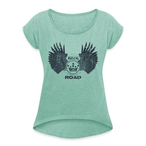 WINGS King of the road dark - Vrouwen T-shirt met opgerolde mouwen