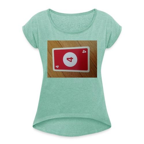 UNO - Frauen T-Shirt mit gerollten Ärmeln