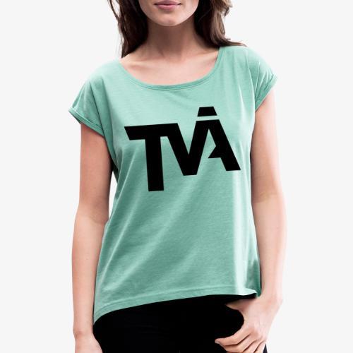 TVÅHUNDRA - T-shirt med upprullade ärmar dam