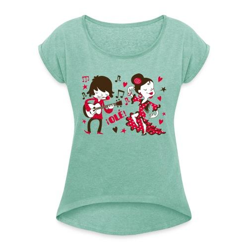 GITANILLOS - Camiseta con manga enrollada mujer