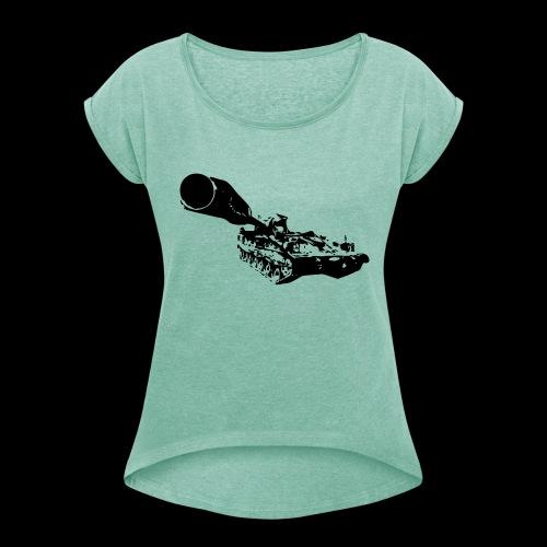 panzerhaubitze - Frauen T-Shirt mit gerollten Ärmeln