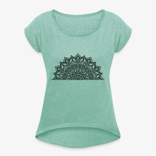 mandala2 - Women's T-Shirt with rolled up sleeves