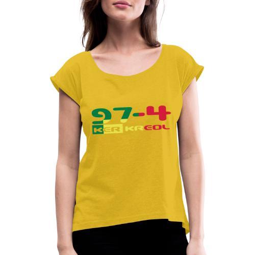 974 ker kreol Rastafari - T-shirt à manches retroussées Femme