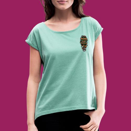 Psyche. - Frauen T-Shirt mit gerollten Ärmeln