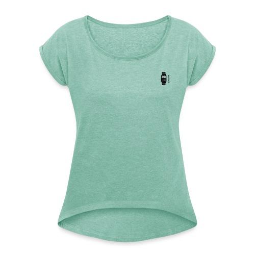 Watch - Vrouwen T-shirt met opgerolde mouwen