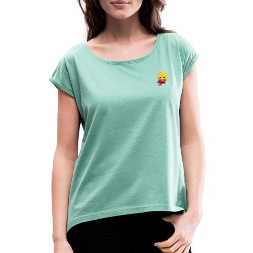 Schnatterinchen 3D - Frauen T-Shirt mit gerollten Ärmeln