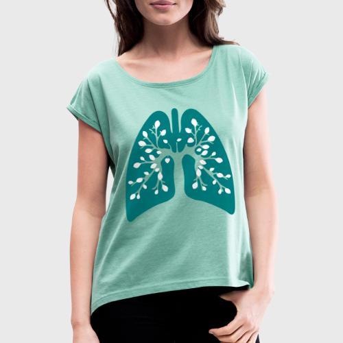 Poumon vert - T-shirt à manches retroussées Femme