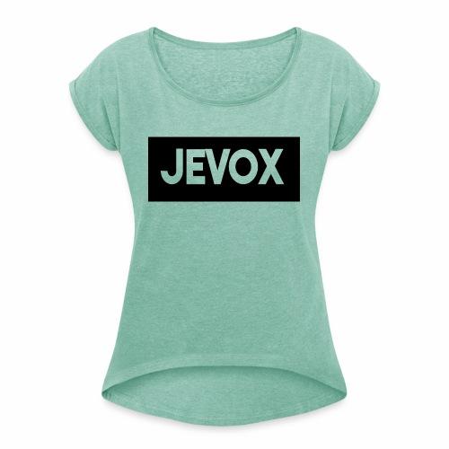 Jevox Black - Vrouwen T-shirt met opgerolde mouwen