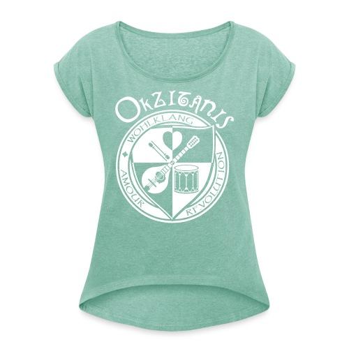Okzitanis - Wohlklang Amour Revolution - Frauen T-Shirt mit gerollten Ärmeln