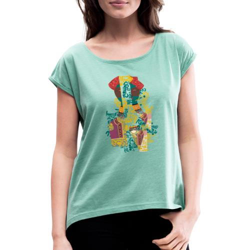 G'sab - Tunisia Today - Women's T-Shirt with rolled up sleeves