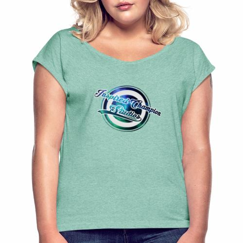 Inspired Champion Official Brand Merch - Women's T-Shirt with rolled up sleeves