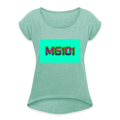 MG101 Designs - Women's T-Shirt with rolled up sleeves