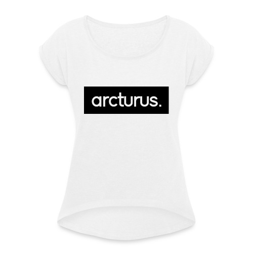 for t white png - Women's T-Shirt with rolled up sleeves