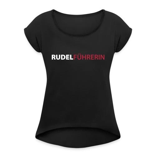 Vorschau: Rudelführerin - Frauen T-Shirt mit gerollten Ärmeln