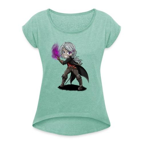 Chibi Warrior - T-shirt à manches retroussées Femme