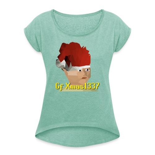 Gnomechild Christmas - T-skjorte med rulleermer for kvinner
