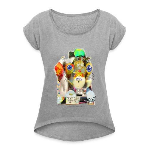 Doctor Rudy Knows Best 5! - Vrouwen T-shirt met opgerolde mouwen