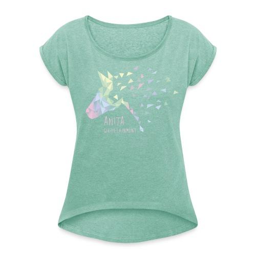 Anita Girlietainment past - Frauen T-Shirt mit gerollten Ärmeln