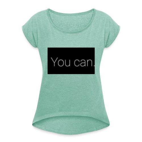 Dhdjgrrhrhjdj - Vrouwen T-shirt met opgerolde mouwen