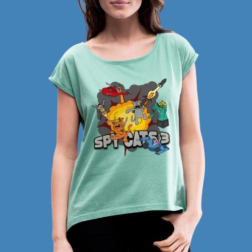 Spy Cats 3 - Vrouwen T-shirt met opgerolde mouwen