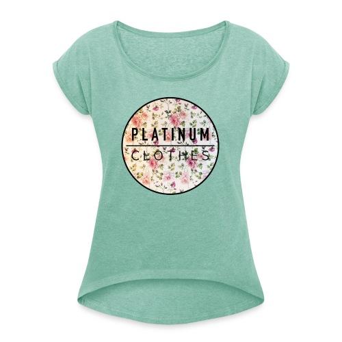 Layout Rosetree - Frauen T-Shirt mit gerollten Ärmeln