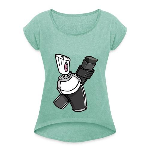Graffity - T-shirt à manches retroussées Femme
