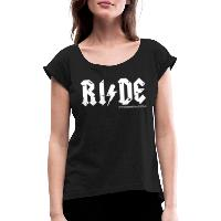 RIDE - Women's T-Shirt with rolled up sleeves - black
