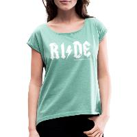 RIDE - Women's T-Shirt with rolled up sleeves - heather mint