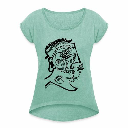 HeadOhMyHead - Frauen T-Shirt mit gerollten Ärmeln