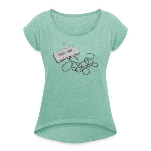 La cassette et son allié - T-shirt à manches retroussées Femme