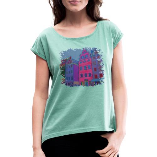 Stockholm - Frauen T-Shirt mit gerollten Ärmeln