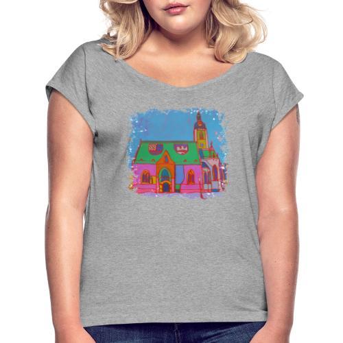 Zagreb - Frauen T-Shirt mit gerollten Ärmeln