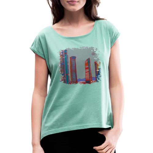 Madrid - Frauen T-Shirt mit gerollten Ärmeln