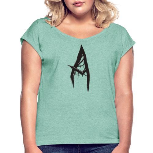 Scary A - Frauen T-Shirt mit gerollten Ärmeln