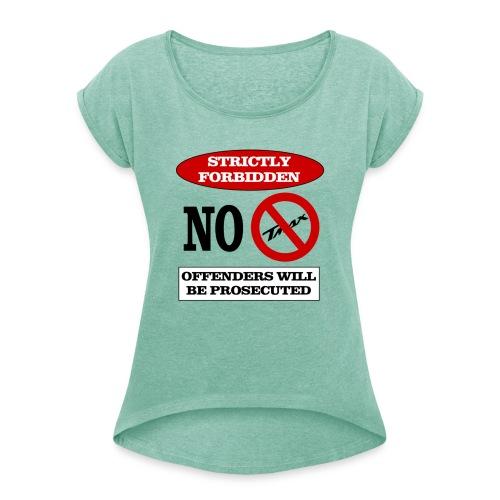 NOTMAX - Maglietta da donna con risvolti