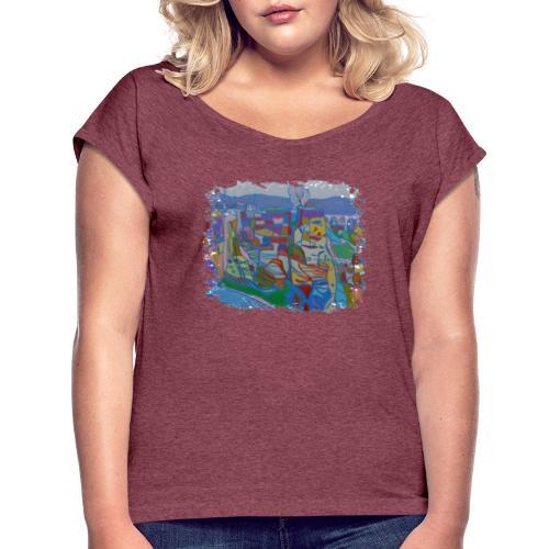 Luxemburg - Frauen T-Shirt mit gerollten Ärmeln