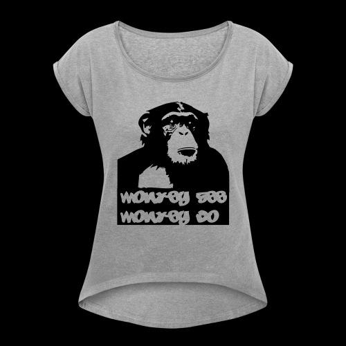 chimp - Frauen T-Shirt mit gerollten Ärmeln