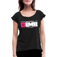 IMB Logo - Women's T-Shirt with rolled up sleeves - black