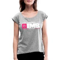 IMB Logo - Women's T-Shirt with rolled up sleeves heather grey