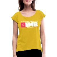 IMB Logo - Women's T-Shirt with rolled up sleeves mustard yellow