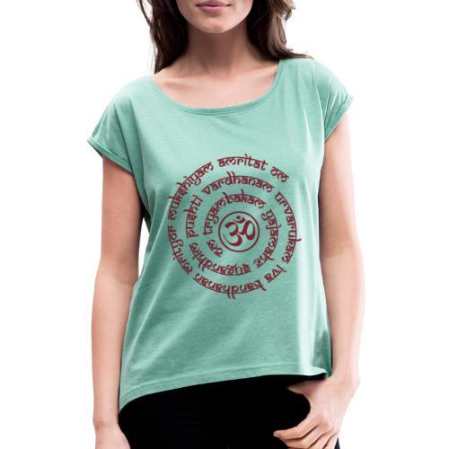 Tryambakam Mantra das Mantra zur Befreiung - Frauen T-Shirt mit gerollten Ärmeln
