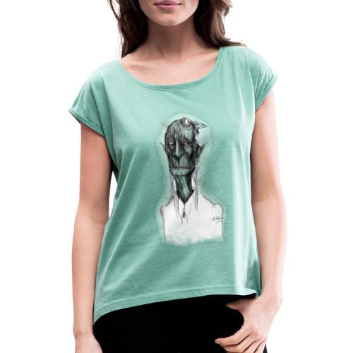 T-shirt del Maniscalco Bifronte - Maglietta da donna con risvolti