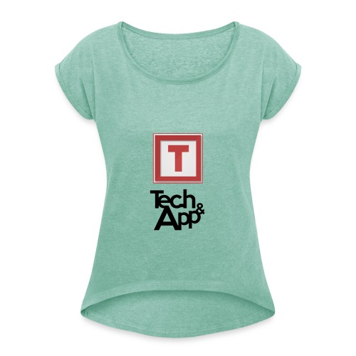 Tech&App - T-shirt à manches retroussées Femme