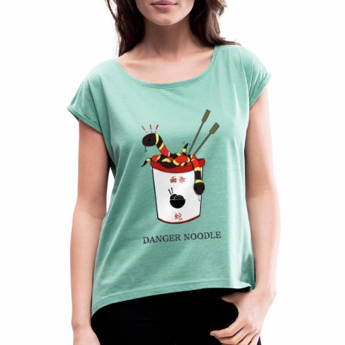 Danger Noodle - T-shirt à manches retroussées Femme