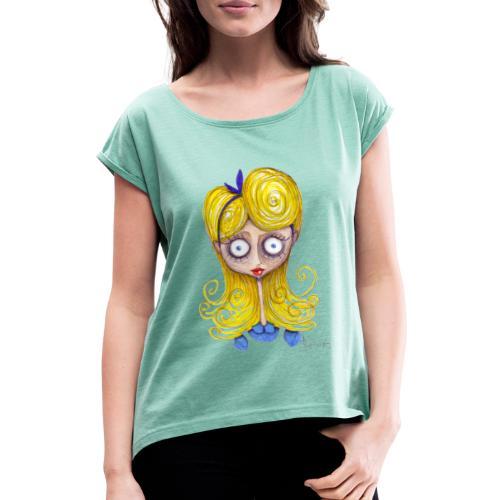 Alice Nel Paese Delle Meraviglie - Maglietta da donna con risvolti