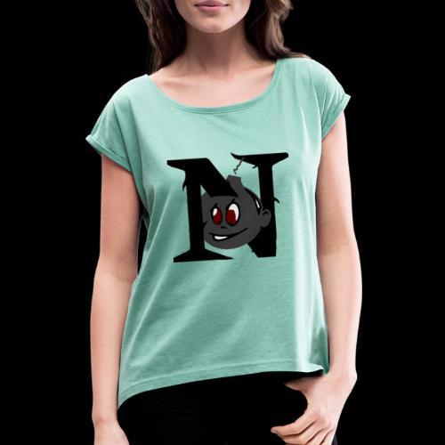 tete seul N - T-shirt à manches retroussées Femme