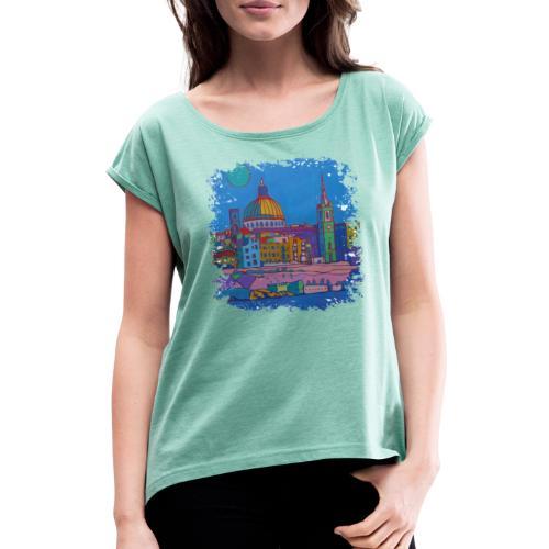 Malta - Frauen T-Shirt mit gerollten Ärmeln