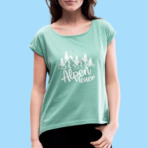 Alpenteuer - Frauen T-Shirt mit gerollten Ärmeln