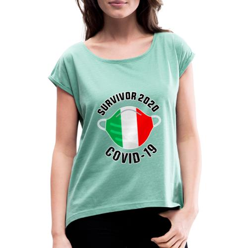 survivor covid 19 italia - Camiseta con manga enrollada mujer