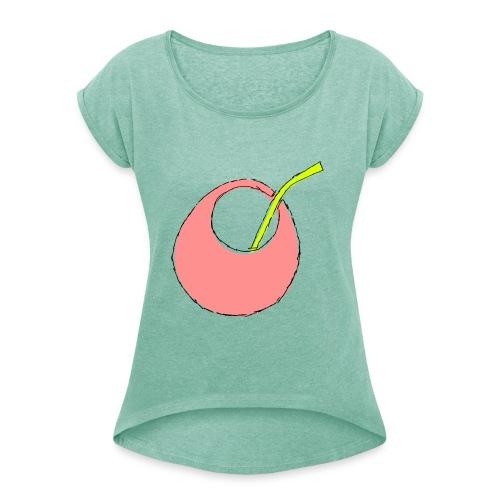 Mate-Tee Pur - Frauen T-Shirt mit gerollten Ärmeln